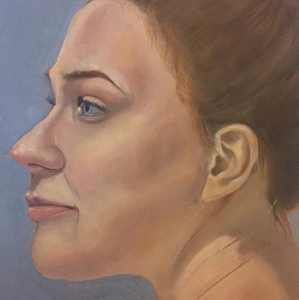 "Life Study, Oil on Panel, 8.5 x 11"" 2016."
