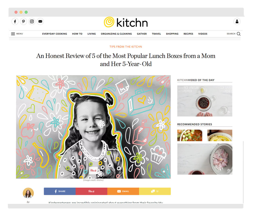 Header doodle as seen on Kitchn's website