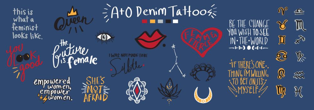 Design choices for customer's denim 'tattoos'