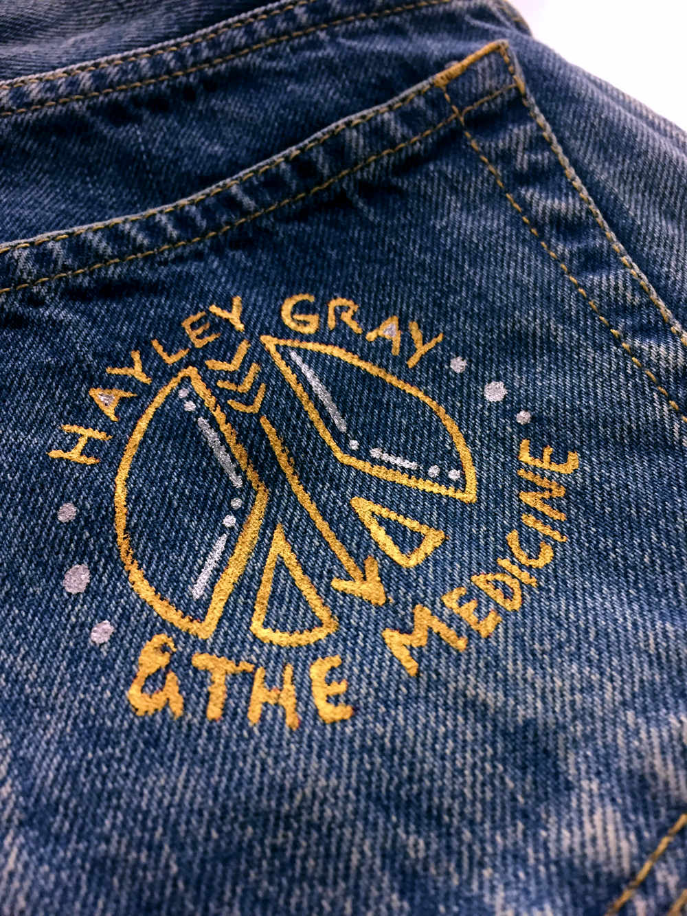 Custom design for a member of the band,  Haley Gray & The Medicine