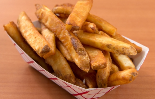 Beer Battered Fries Beer battered fries with our special seasoning.