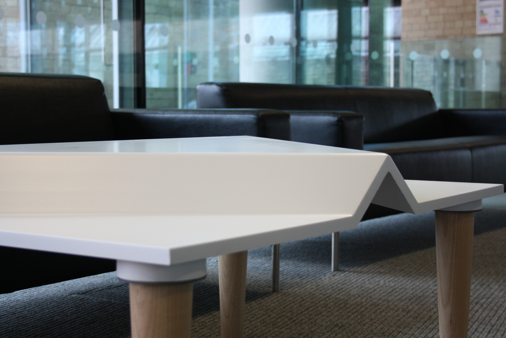 Made From Two Contrasting Materials, Mogul Tests Peoples Perception Of A  Coffee Table. With A Corian Top And Ash Legs, Moguls Distinctive Shape  Offers ...
