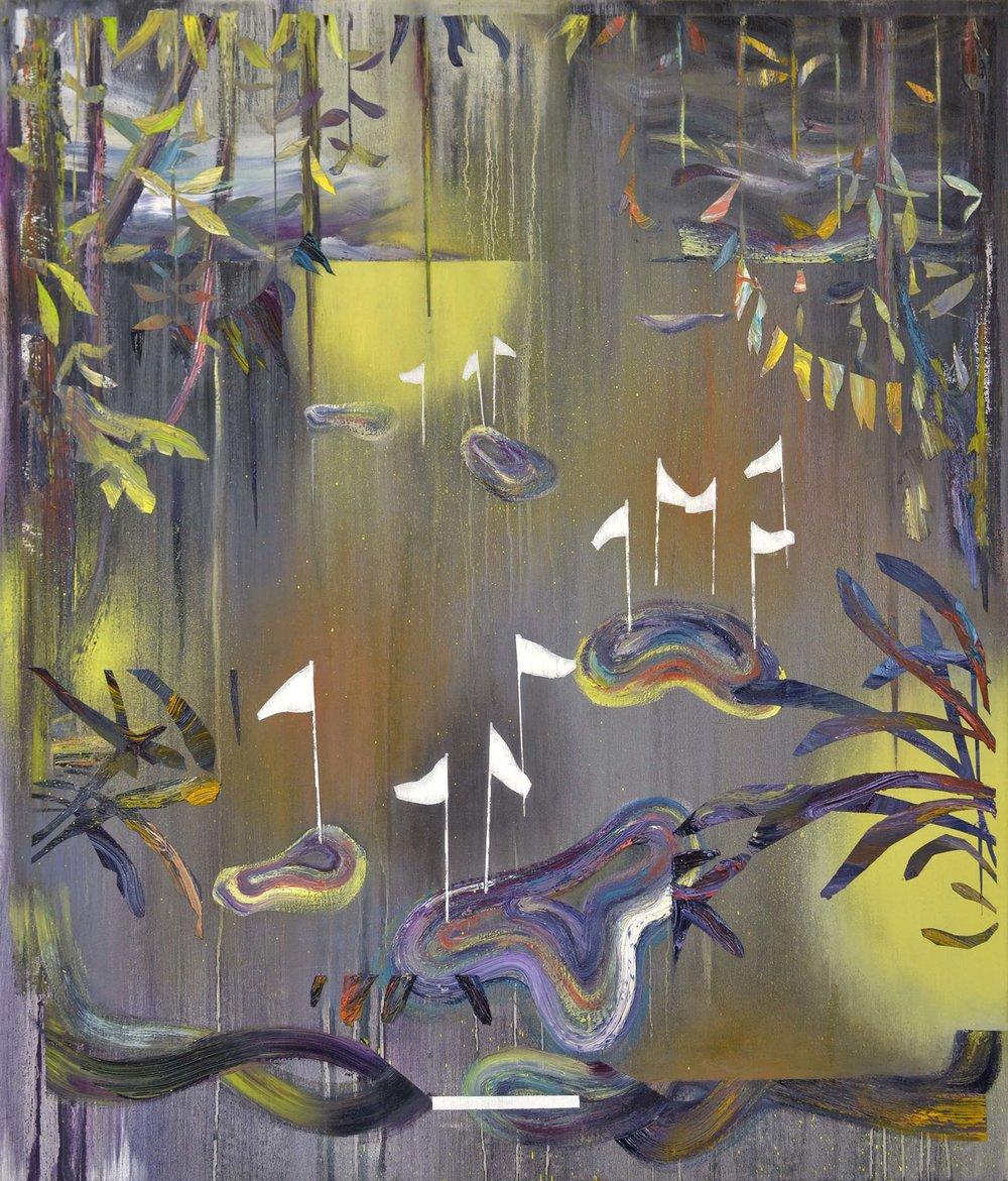 Terrain II  oil on canvas, 65 x 75 cm, 2015