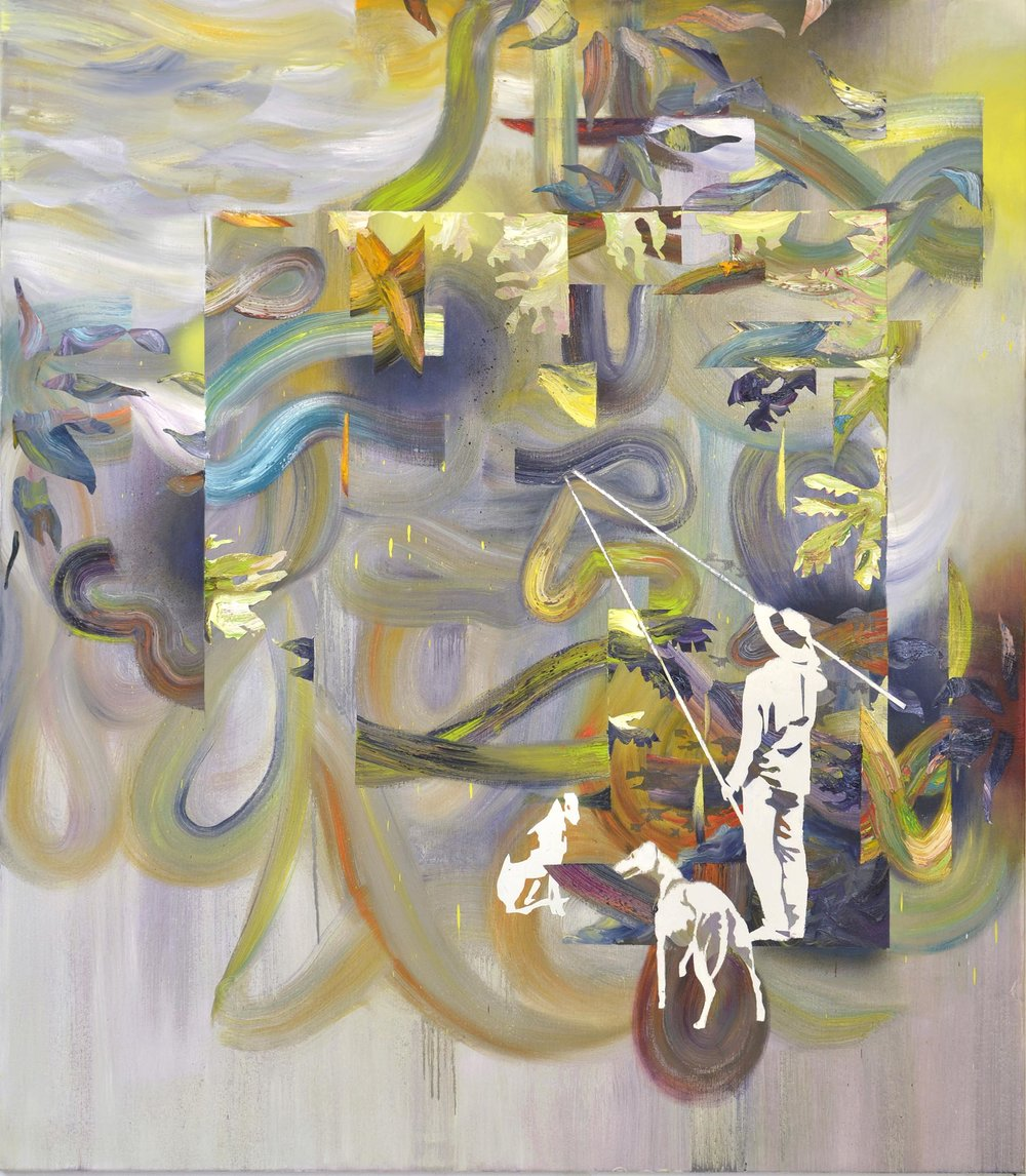 Konstrukt  oil on canvas 160 x 140 cm, 2015