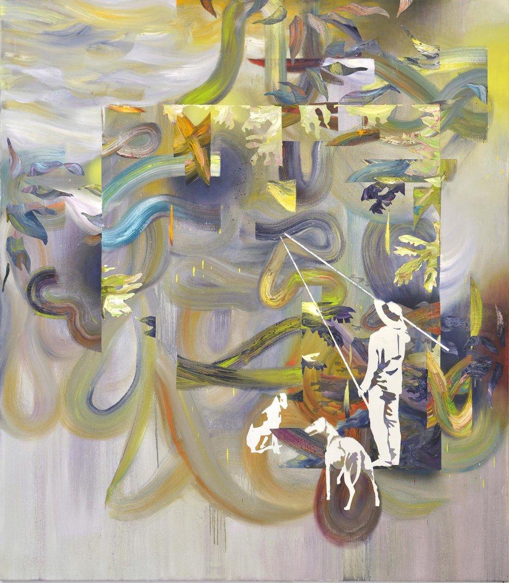 Konstrukt  oil on canvas 160 x 140 cm, 2015