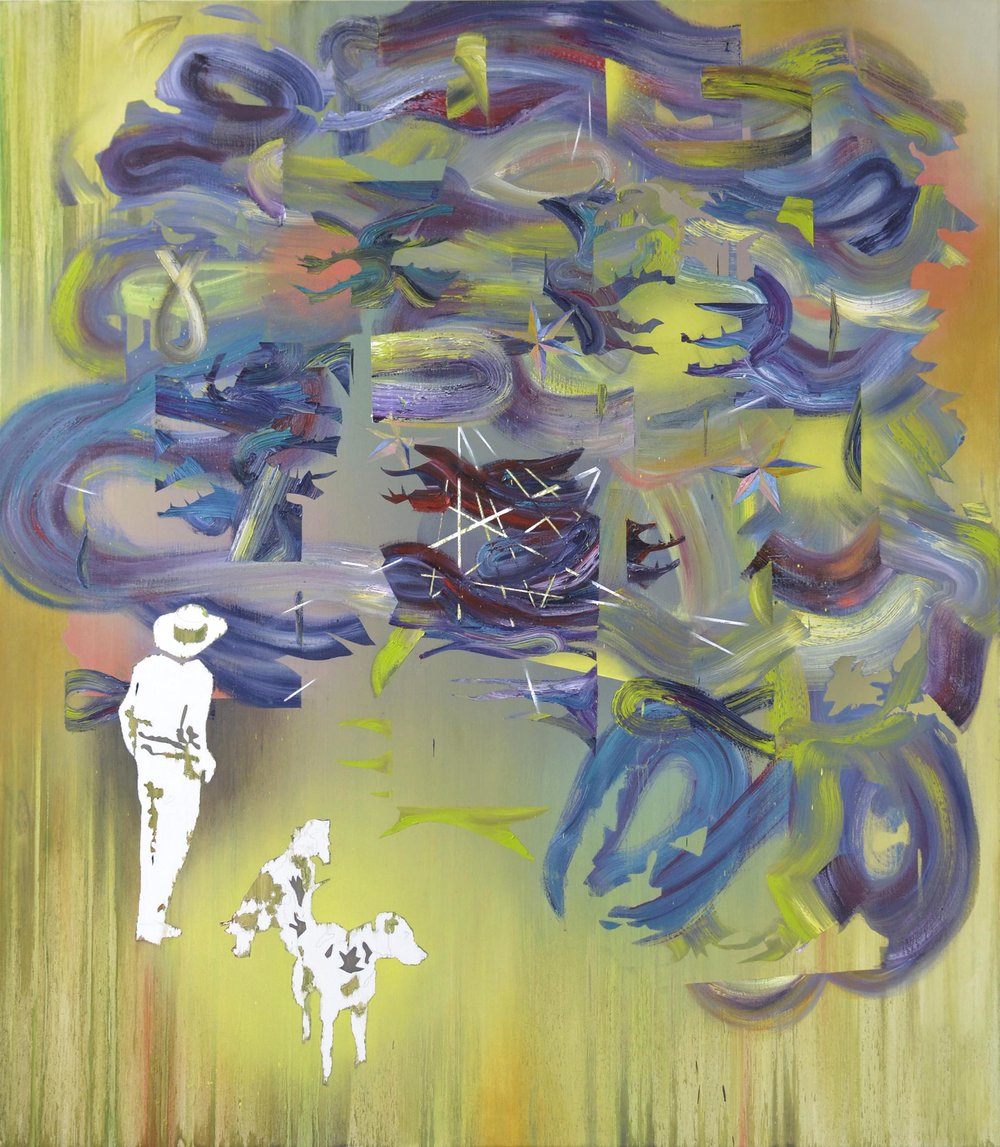 Dickicht  oil on canvas 150 x 120 cm, 2015