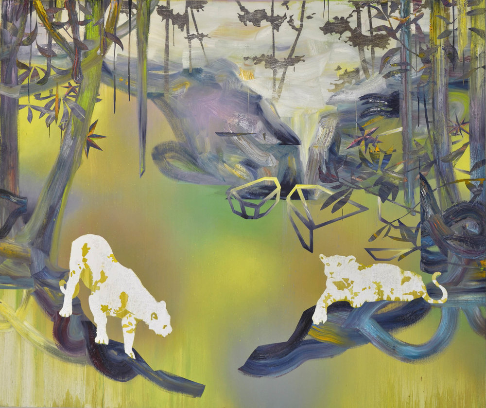 Leoparden  oil on canvas 160 x 190 cm, 2015