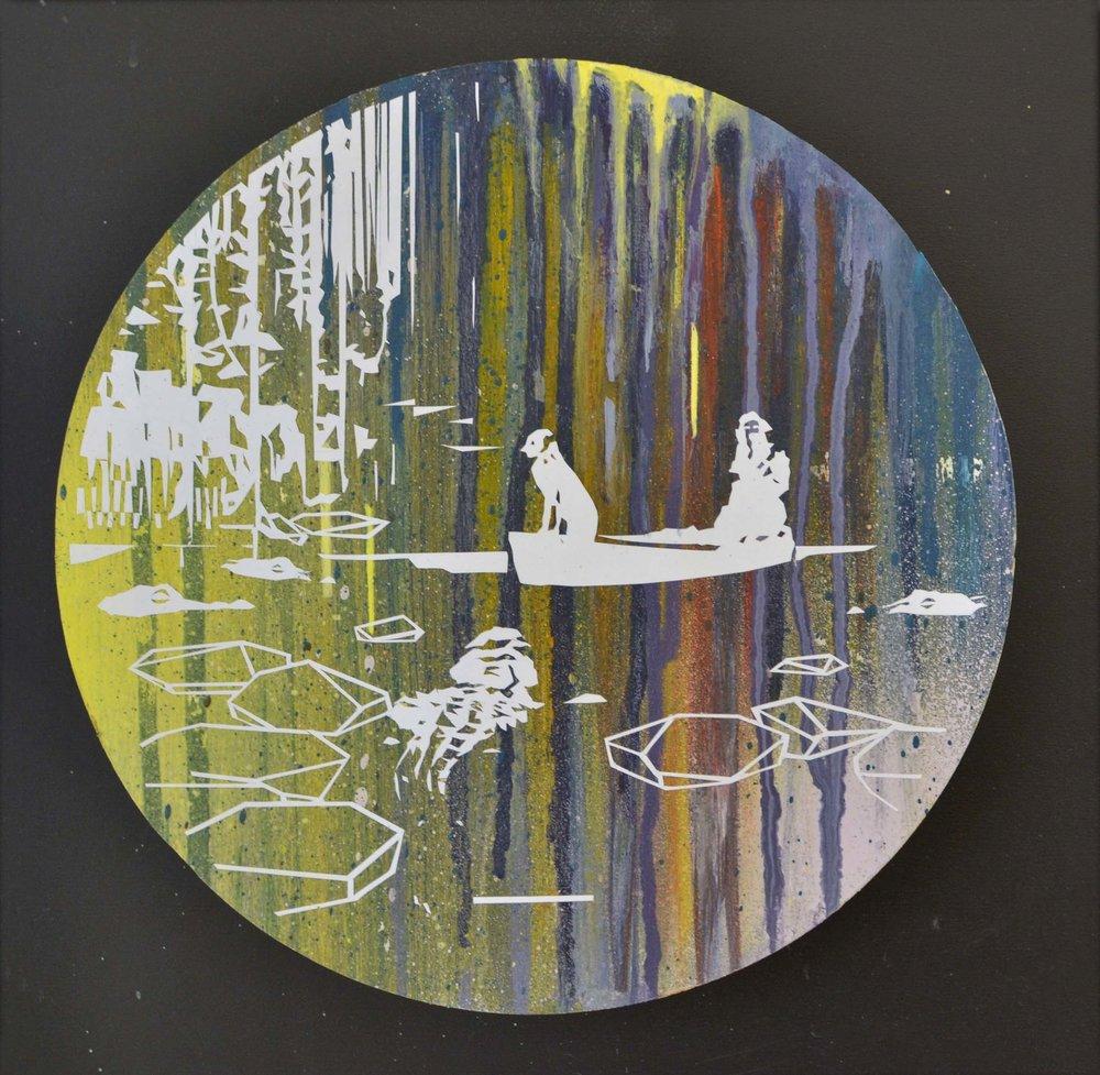 Mangrovia  oil on wood 23 x 23 cm, 2015