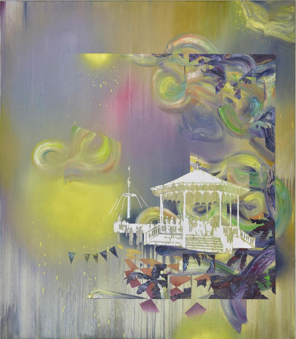 Pavillon  oil on canvas 160 x 140 cm, 2014