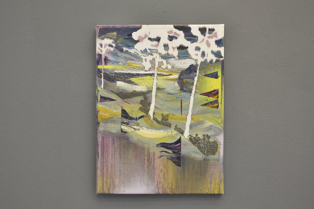 Gefälle  oil on canvas 30 x 40 cm, 2015