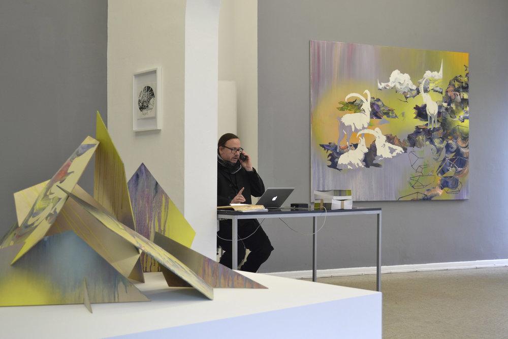 Matthias Moravek, %22Geroell%22, exhibition view, 2014.jpg