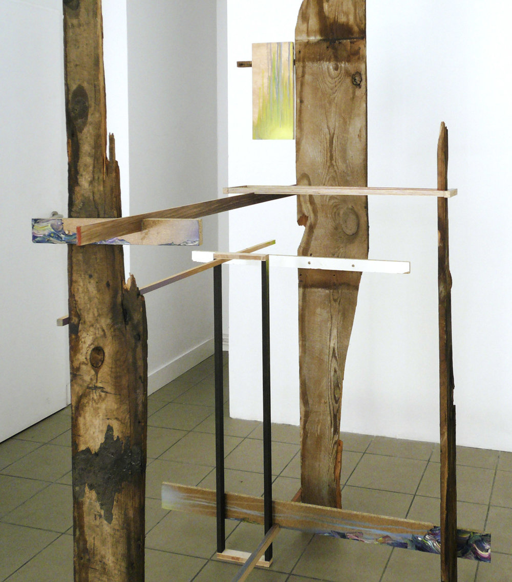 Mübafix 480 (Detail)  Matthias Moravek &  Gabriele Künne  220 x 80 x 60 cm mixed media,2013