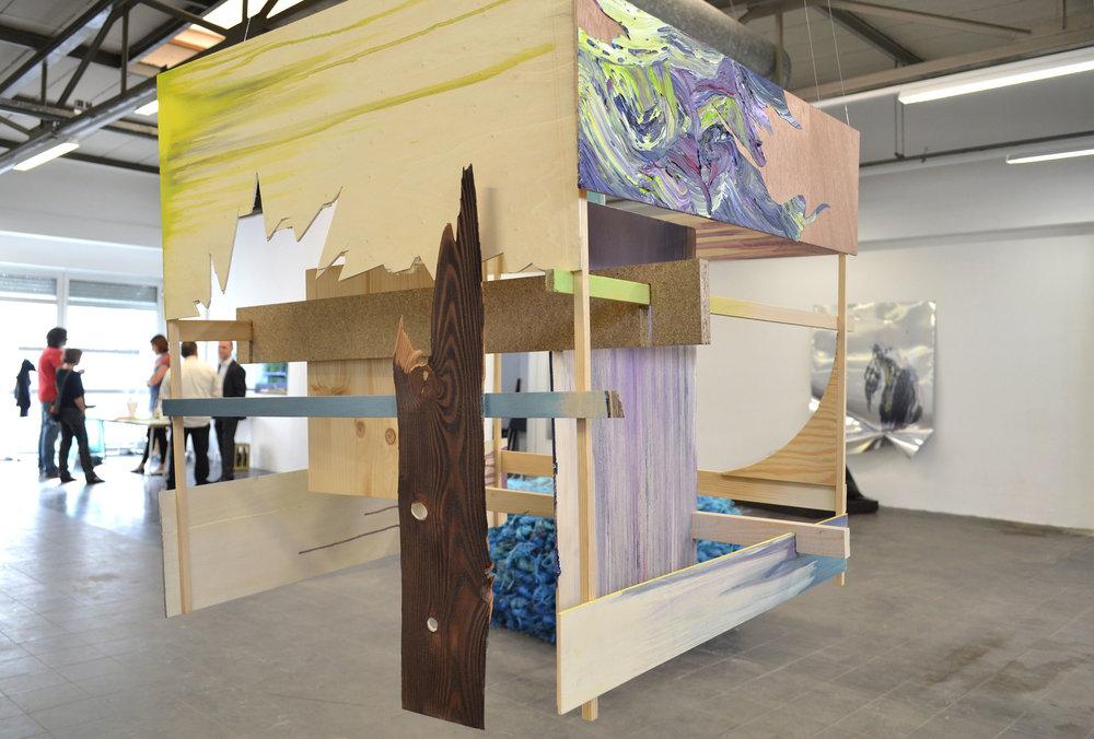 Mübafix 240  Matthias Moravek &  Gabriele Künne  80 x 80 x 80 cm mixed media,2012
