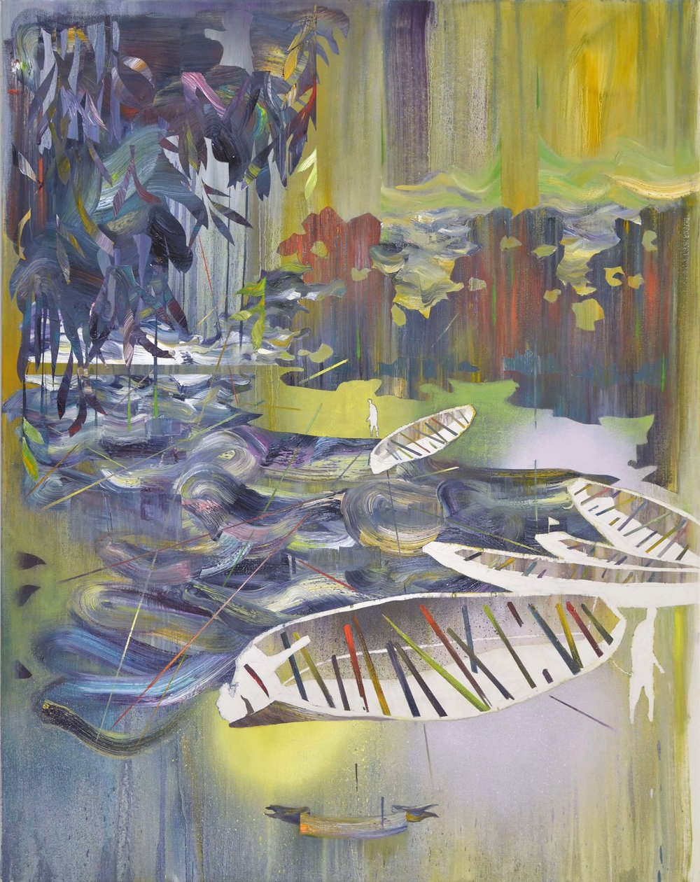 Mikado  oil on canvas 120 x 95 cm, 2015