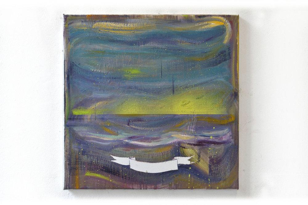 Étude II  oil on canvas 40 x 40 cm, 2016