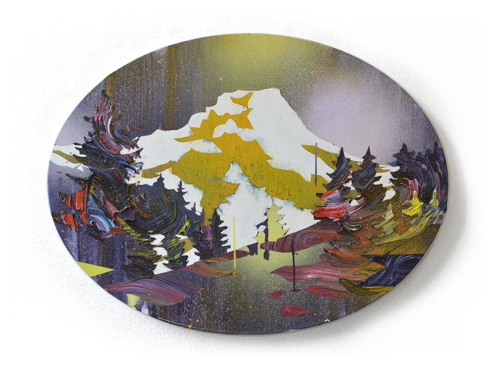 Alpinism XII  oil on cardboard 30 x 40 cm, 2016