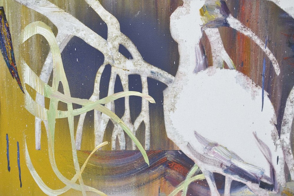 Ibis (Detail)  oil on canvas 120 x 100 cm, 2017