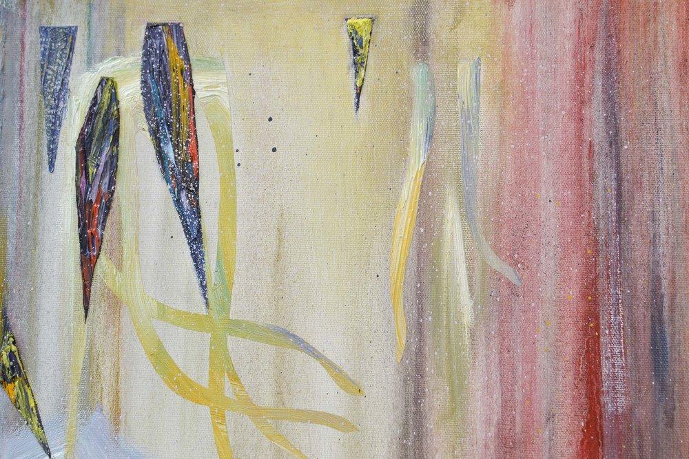Ibis (Detail)  oil on canvas 120 x 100 cm, 2017