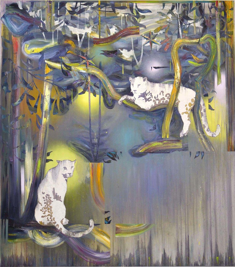 In Lianen  oil on canvas 180 x 160 cm, 2015