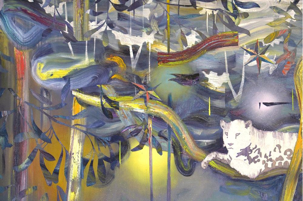 In Lianen (Detail)  oil on canvas 180 x 160 cm, 2015