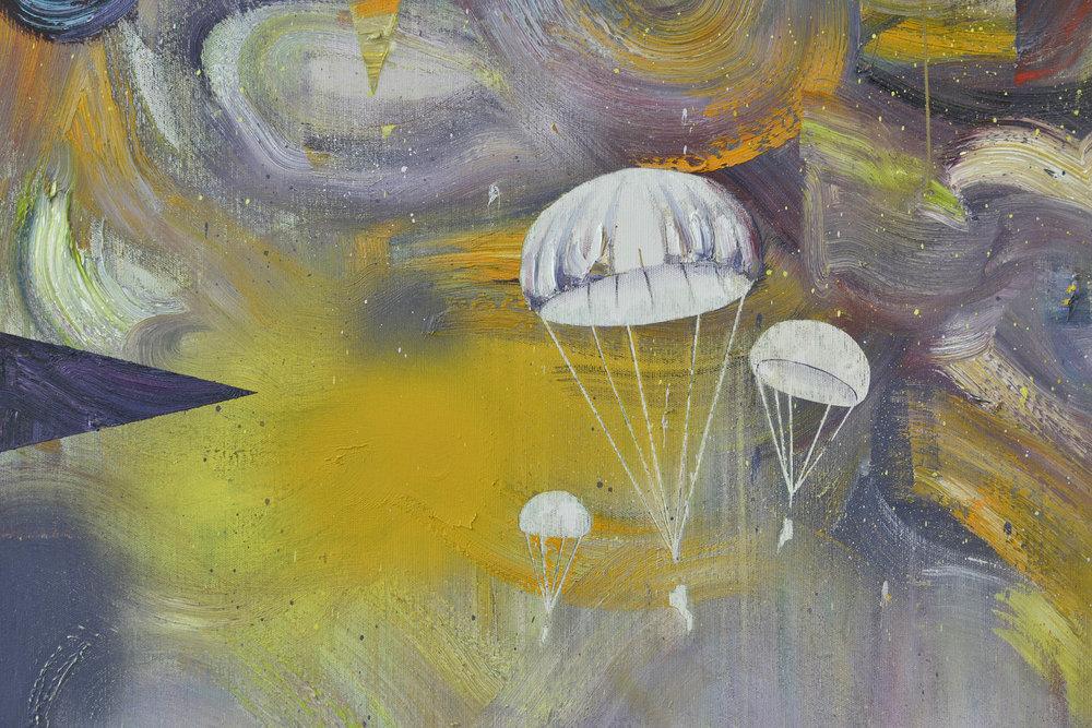 Landung (Detail)  oil on canvas 190 x 165 cm, 2016