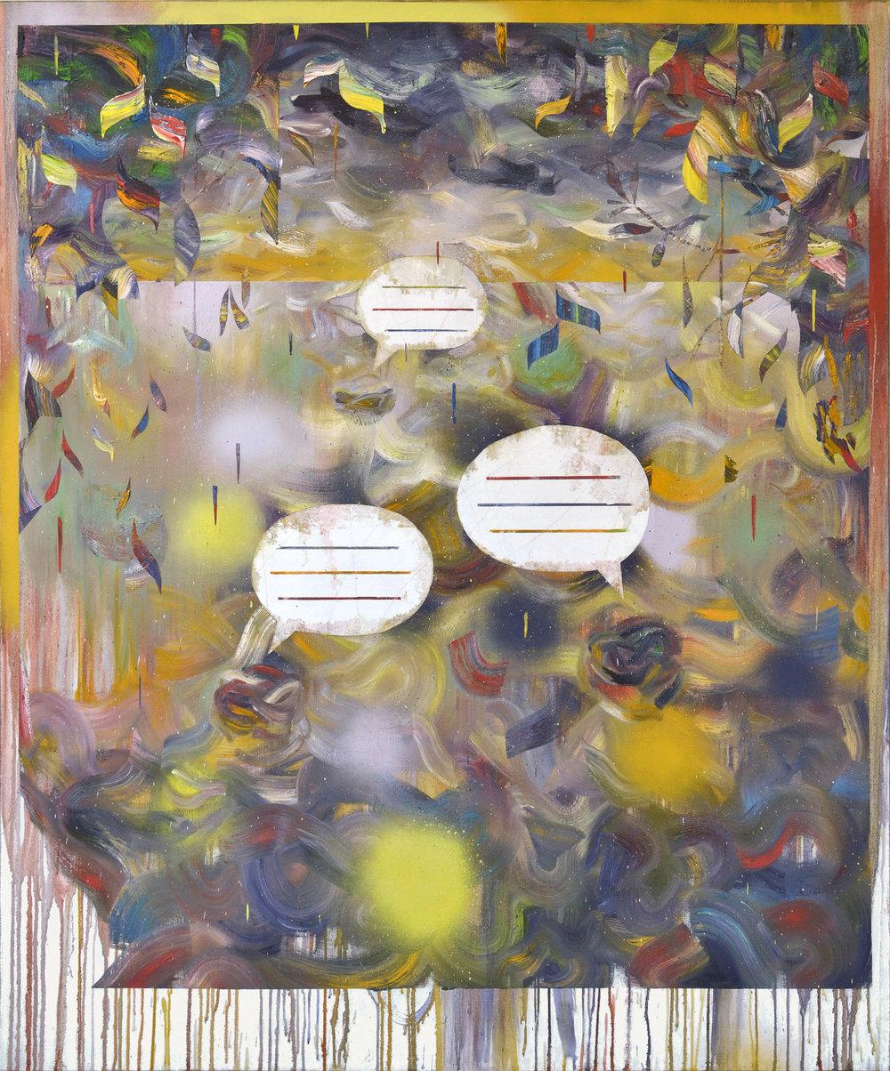 Blasen  oil on canvas 180 x 150 cm, 2017