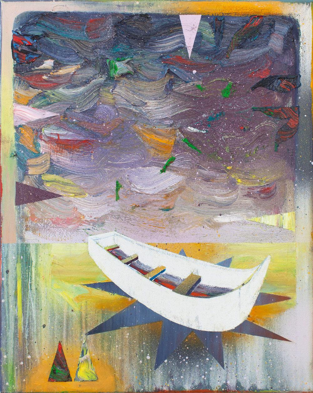 Kanu  oil on canvas 40 x 32 cm, 2018