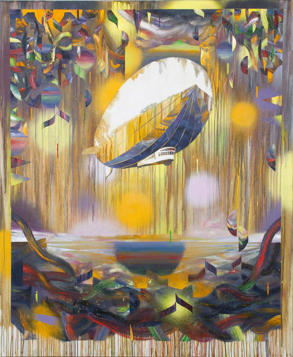 Es zieht vorbei  oil on canvas 200 x 165 cm, 2018