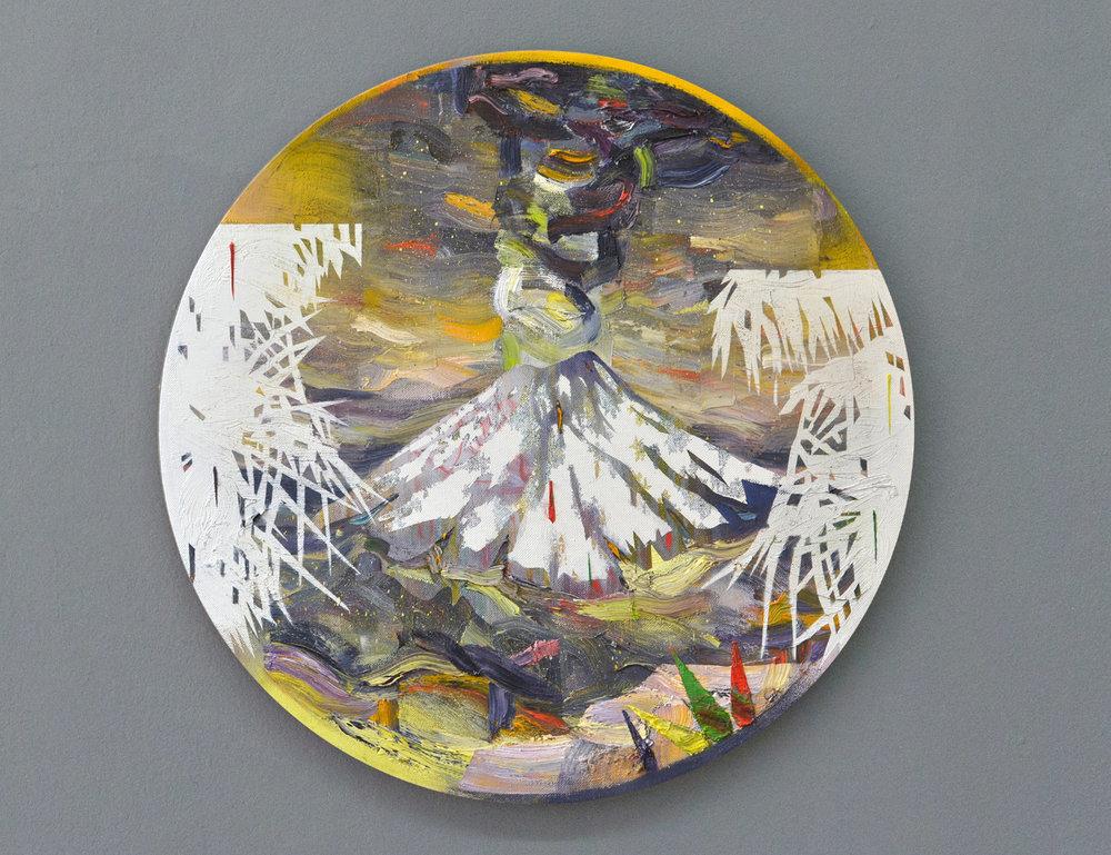 Tambora II  oil on canvas 60 x 60 cm, 2017