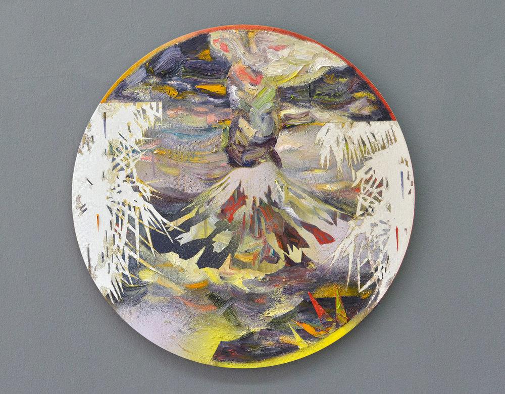 Tambora I  oil on canvas 60 x 60 cm, 2017