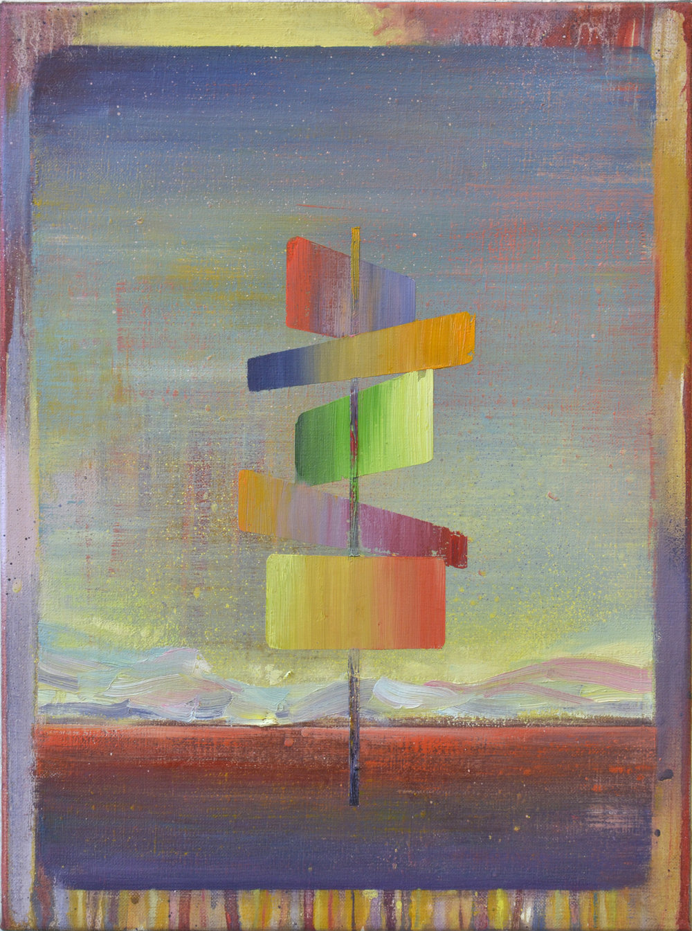 Sign  oil on canvas 40 x 30 cm, 2018