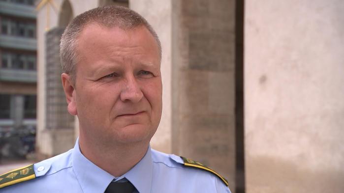 Peter Dahl, Københavns Politi. Foto: DR.