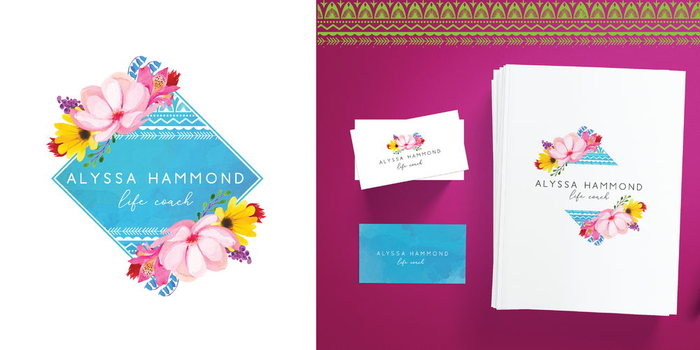 Hellohappen | Brand Design for Alyssa Hammond, life coach