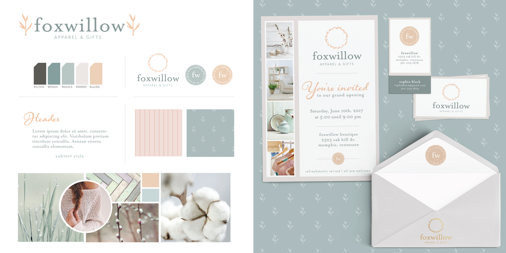 Hellohappen | Brand Design for Foxwillow Gifts