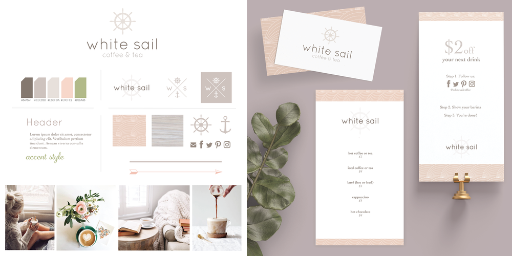 Hellohappen | Brand Design for White Sail Coffee
