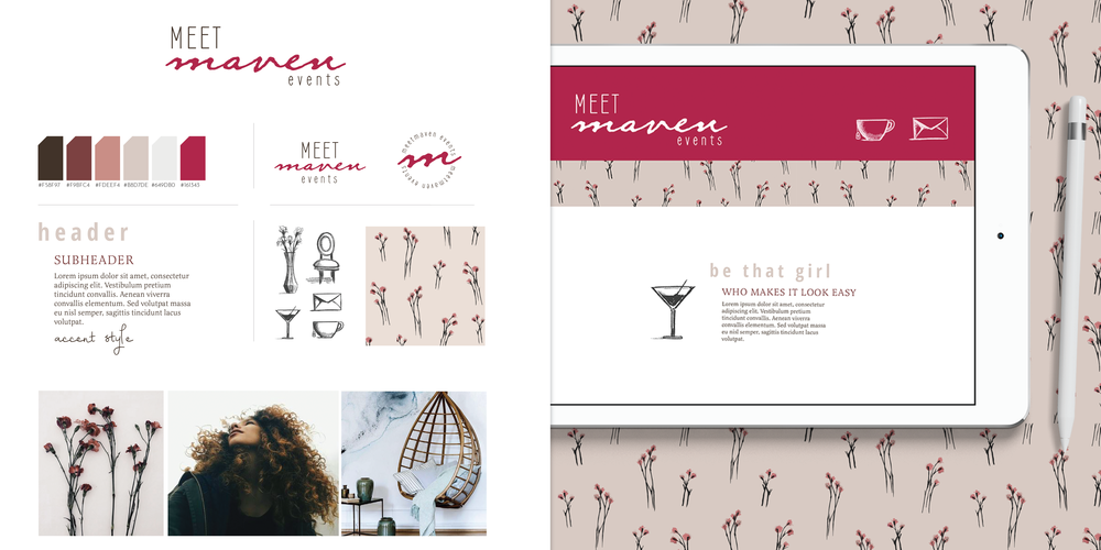 Hellohappen | Brand Design for Meet Maven Events
