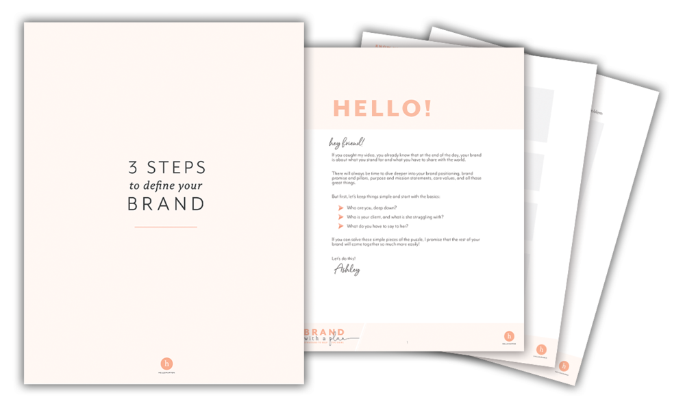3 Steps to Define Your Brand hellohappen
