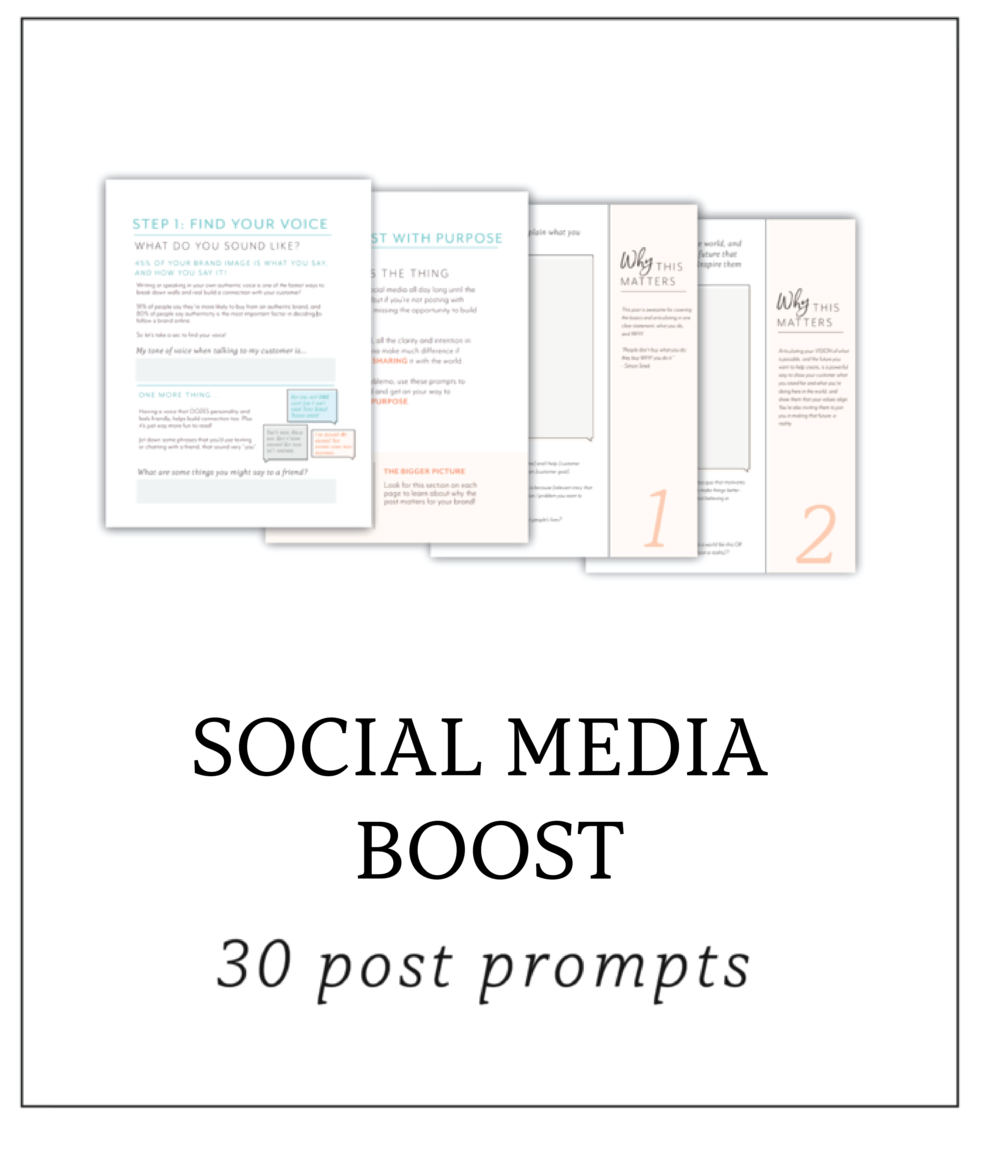 Free social media prompts for the creative entrepreneur
