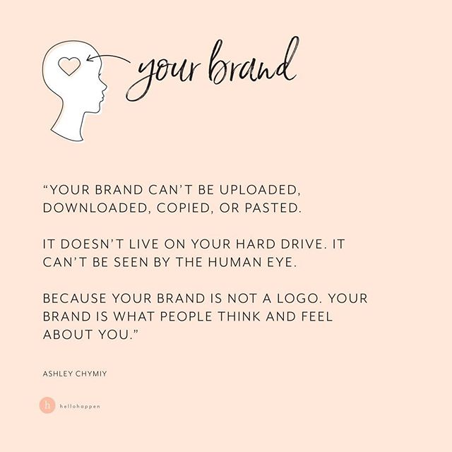 WHERE does your brand LIVE? If you had to go point to it with your finger, where would it BE? ✨ On your hard drive? On your website? In your social media feed? In your journal? In your words? ✨ Nope, nope, nope, nope, nope, nope! ✨ Your brand lives in your customer's BRAIN. 🤓 Imagine walking down its corridors. The walls are lined with stacks of hobbies, dreams, memories, feelings, beliefs about the world... and in its tidy little corner, sits your brand. ✨ It's where she stores all her experiences with you, her beliefs about you, her thoughts and feelings about you - all the intangibles that make up what you mean to her and what you represent in her mind. What does she believe about you? What does she love about you? What does she WONDER about you? ✨ Look closer... see all the individual IMPRESSIONS that your words, your visuals, your customer experience, have left over time. Which experiences STAND OUT the most? ✨ Was it that time you took an extra minute of your time to thoughtfully answer her question? Was it that story you posted on Instagram that made her feel less alone? Was it the random reference you made to her favorite TV show? ✨ If we can stop thinking about marketing as a chore, and start thinking about it as building a relationship with our customer, it takes on so much more meaning and is SO much more powerful for our business, AND our customer. ✨ It's time, you're ready -- to shine your LIGHT, raise your VOICE, leave an IMPRESSION, and THRIVE by being you 🧡 ✨ If you found the corner in your customer's brain where you brand lives, what specific memories would be there?👇🏼