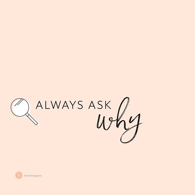 """This is just the way we do things. It's how we've always done them!"" ✨ This answer makes my brain hurt, and my palms sweat — Anyone else? 🙋🏼‍♀️ ✨ Building a brand is about doing things with intention! It means always asking yourself WHY.  WHY am I doing this work? (that's a big one - check out my story from this morning to see my WHY) WHY am I using these words? WHY am I using this imagery? WHY am I marketing my business this way? WHY am I using this platform? WHY is my website structured this way? WHY is this my client intake process? WHY do I onboard clients this way? WHY do I run my projects like this? WHY is this my wrap-up process? ✨ Yea... you do start to feel like a curious toddler who can't ask WHY enough times. 👧🏼 ✨ But when you find a question you don't have a thoughtful answer for, what you've really found is an OPPORTUNITY! An area of your business or brand that could be much more STRATEGIC. An area you can be more intentional about, to get (and deliver) BETTER RESULTS. ✨ Here's a question I'm asking myself today: WHY am I on stories so often lately? Answer: Because I preach showing up as you are, even if it's scary, and I'm PRACTICING what I preach! ✨ Because my dream client wants that real CONNECTION with someone before she reaches out! ✨ Because the FRIENDS I've made here are such an important part of my journey, and my daily happiness. They bring so much light to my day. 🧡 ✨ (P.S. if you want someone to ask you ALL the right questions about your brand and your biz, and really help you dive deep and create YOUR strategy for success, remember there are ONLY 2 SPOTS remaining in Brand your Brilliance! DM me for the deets ✌🏼) ✨ Have you ever asked yourself ""WHY am I doing things this way"" and then made a change? What WHY question can you ask yourself today? 👇🏼"