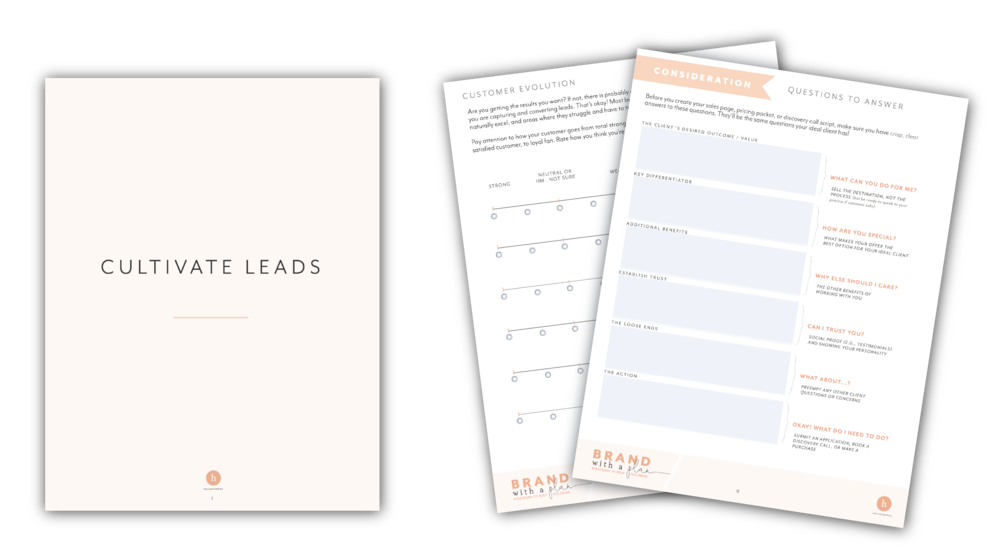 Cultivating Leads workbook