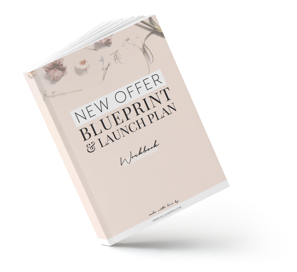 New Offer Blueprint and Launch Plan for creative entrepreneurs