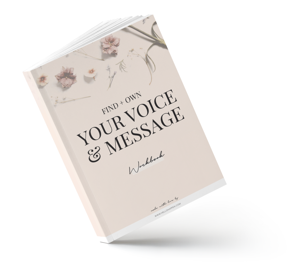 Find your unique brand voice and message for your dream clients / workbook