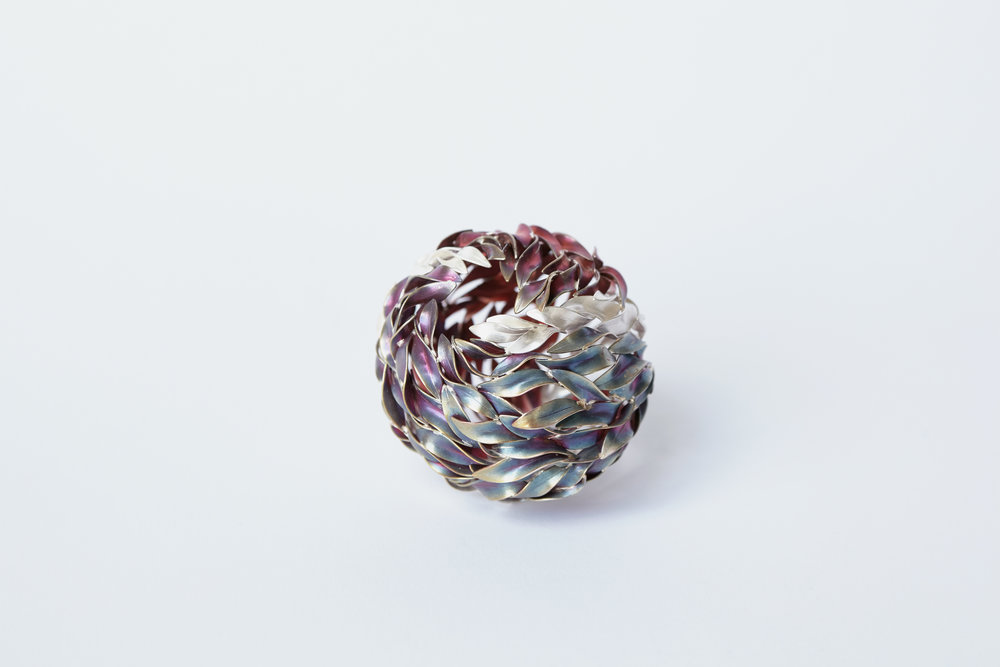 Sphere,  Copper, Fine Silver, 2016