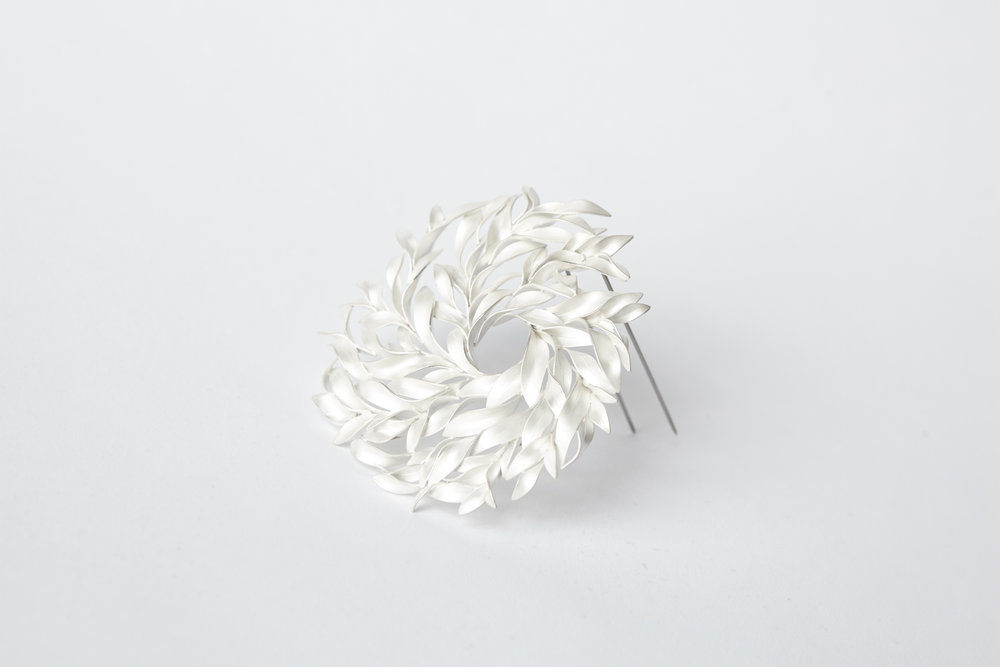Brooch January,  Fine silver, 2016