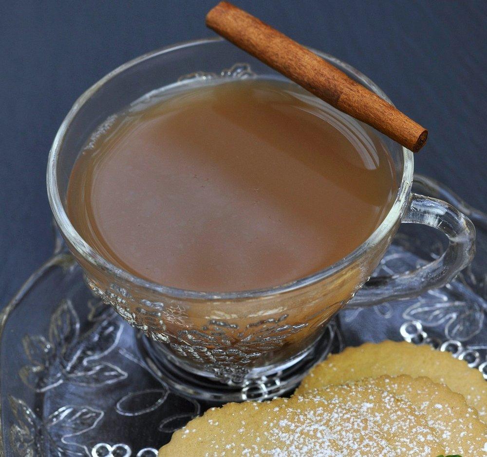 Edmund's Tea   Syrup:Cafe de Olla/Xmas in a Cup  Spirit: Bourbon