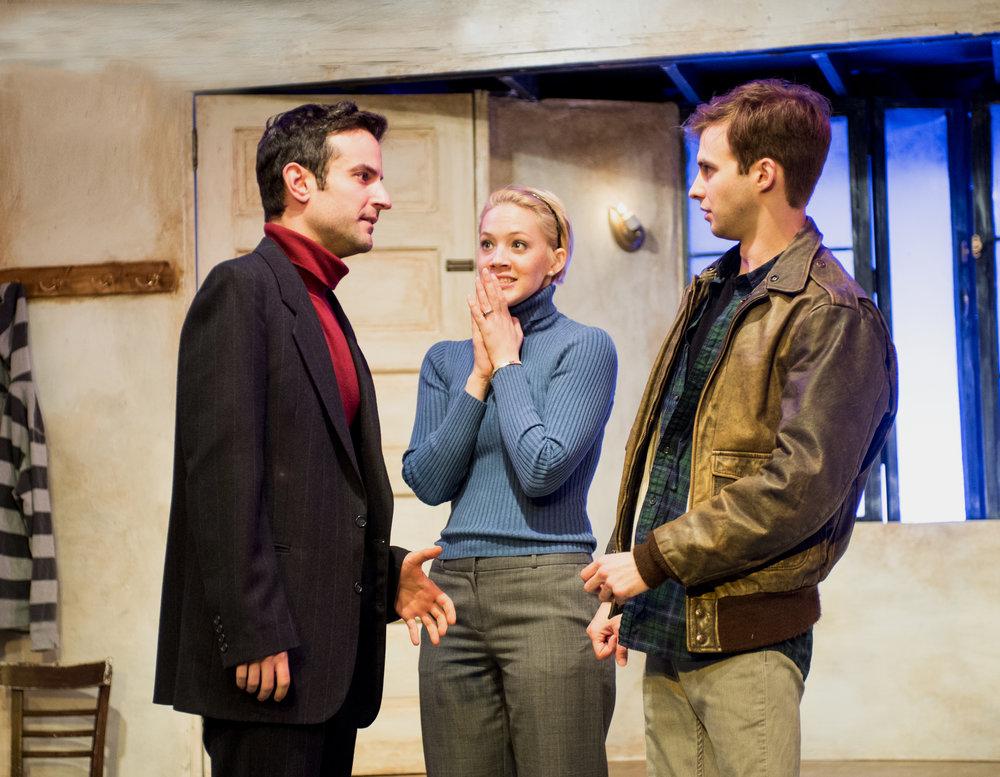 Niko Kourtis (Pip), Kate Black-Spence (Nan), and Kyle Curry (Walker).