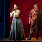 Rosa Feola and Matthew Polenzani in Rigoletto. Photo by Todd Rosenberg