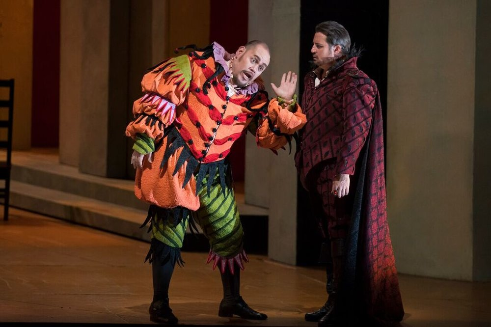 Quinn Kelsey and Matthew Polenzani in RIGOLETTO - Photo by Todd Rosenberg