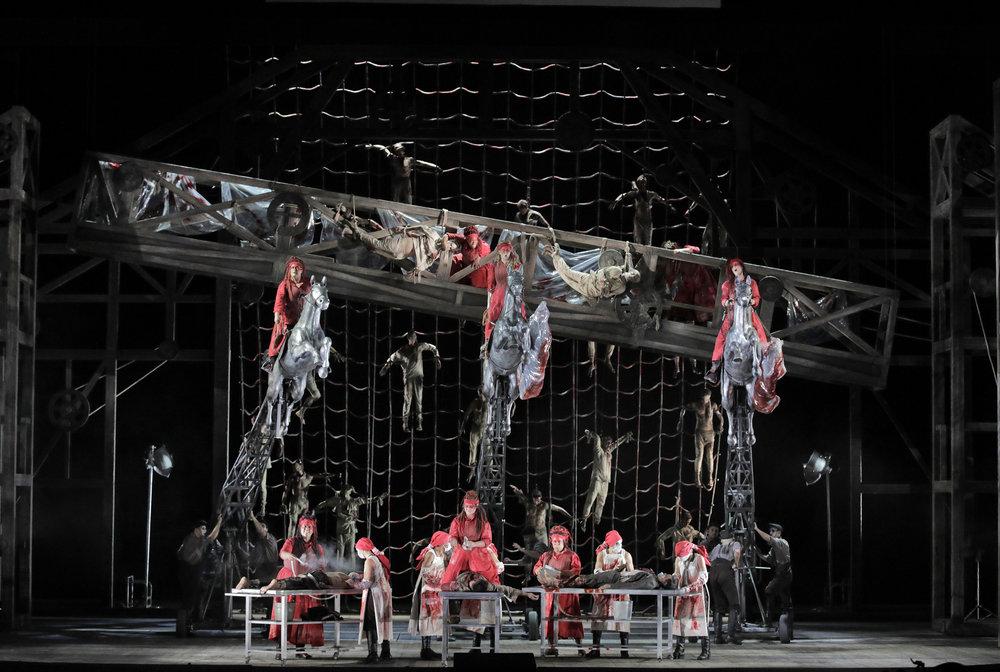 DIE WALKÜRE at the Lyric Opera. Photo by Cory Weaver